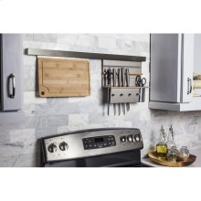 "Hanging Cutting Board for Smart Rail Storage Solution. Cutting Board is Easy to Remove from Rail for Use. Hand Wash and Dry Before Attaching Back to Rail. Use with Either SRSS999-LED or SRSS999 Smart Rail. 19"" x 1-3/8"" x 10-1/4"""