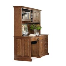 58-Inch Computer Desk #8958 with #8959 Hutch Warm Oak finish-Floor Sample-**DISCONTINUED**