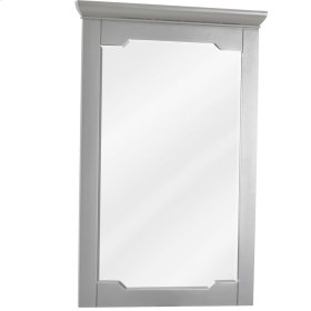 "28"" x 34"" Grey mirror with beveled glass"