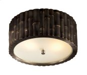 Visual Comfort AH4004GM-FG Alexa Hampton Frank 2 Light 11 inch Gun Metal with Wax Flush Mount Ceiling Light