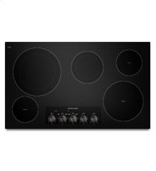 36-Inch, 5 Element Electric Cooktop with Even-Heat Technology - Black