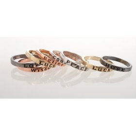 BTQ Mixed Metal Rings - Set of 8