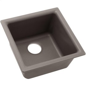 "Elkay Quartz Classic 15-3/4"" x 15-3/4"" x 7-11/16"", Single Bowl Dual Mount Bar Sink, Greige"
