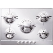 """72CM (approx 28"""") """"Piano Design"""" Gas Cooktop, Polished Stainless Steel*"""