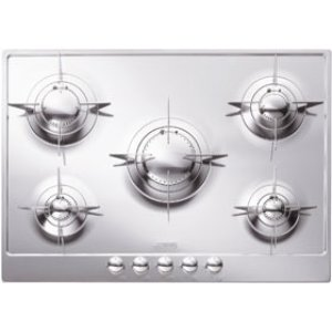"Smeg72CM (approx 28"") ""Piano Design"" Gas Cooktop, Polished Stainless Steel*"