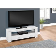 """TV STAND - 48""""L / WHITE WITH 2 STORAGE DRAWERS"""