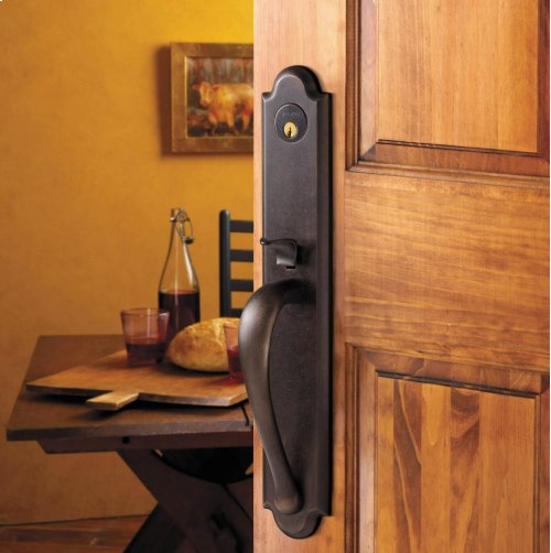 Distressed Oil-Rubbed Bronze Boulder Full Handleset