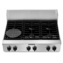 """6 Burners Porcelain-on-Steel Cooktop Architect® Series Gas 36"""" Width"""