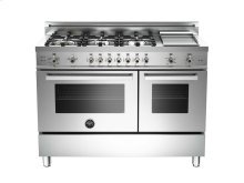 48 6-Burner + Gridlle, Gas Double Oven LP Stainless