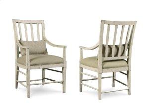 Echo Park Slat Back Arm Chair - Aged Canvas