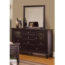 Sandy Beach Cappuccino Dresser Mirror
