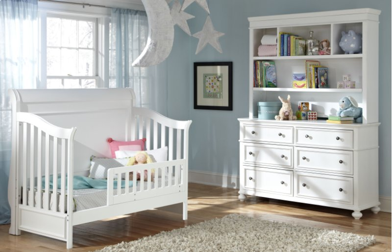 Madison Nursery Bookcase Hutch With Dresser