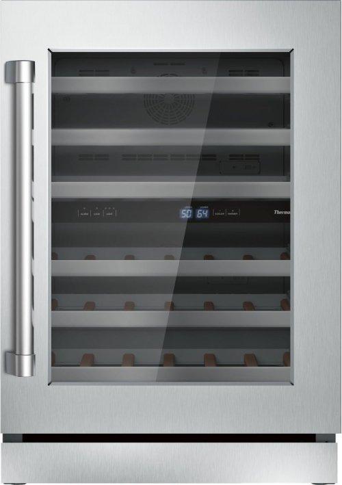 24 3/16'' Glass Door Wine Reserve Professional Handle Right Hinge T24UW820RS