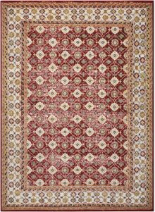 Aria Ar002 Red Rectangle Rug 5'3'' X 7'3''