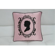 Modrest Transitional Pink And Black Print Throw Pillow