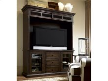 Entertainment Console with Hutch - Molasses