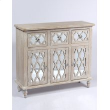Emerald Home Ac701-01 Canterwood Accent Cabinet, Whitewash