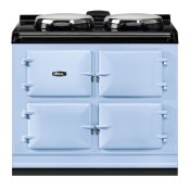 """AGA Dual Control 39"""" Electric/Natural Gas Duck Egg Blue with Stainless Steel trim"""