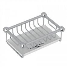 Polished Chrome Perrin & Rowe Edwardian Free Standing Soap Basket
