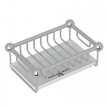Polished Chrome Perrin & Rowe Free Standing Soap Basket