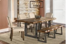 Emerson 6-piece Rectangle Dining Set With One (1) Bench and Four (4) Chairs - Natural Sheesham