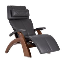 "Perfect Chair PC-LiVE "" - Gray Premium Leather - Walnut"