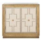 Azuli 2 Door Chest - Rustic Oak / Copper / Mirror Product Image