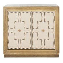 Azuli 2 Door Chest - Rustic Oak / Copper / Mirror