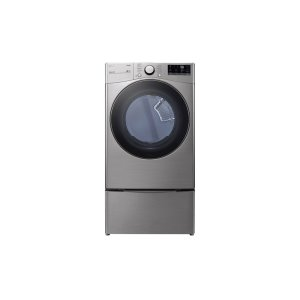 LG 鸭博娱乐s7.4 cu. ft. Ultra Large Capacity Smart wi-fi Enabled Front Load Gas Dryer with Built-In Intelligence