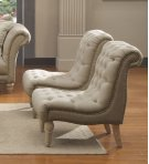 Emerald Home Hutton II Accent Chair Armless Nailhead Natural U3164-15-09 Product Image