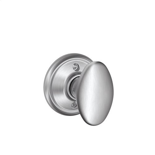 Siena Knob Non-turning Lock - Satin Chrome