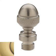 Satin Brass and Brown Acorn Finial