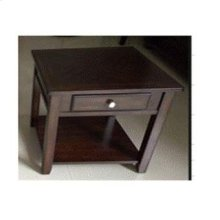 Transitional Walnut One-drawer End Table