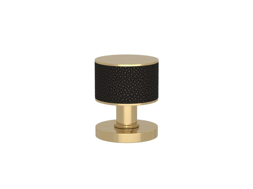 Stacked Shagreen Recess Amalfine In Black Bronze And Polished Brass