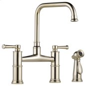 Bridge Faucet With Side Sprayer