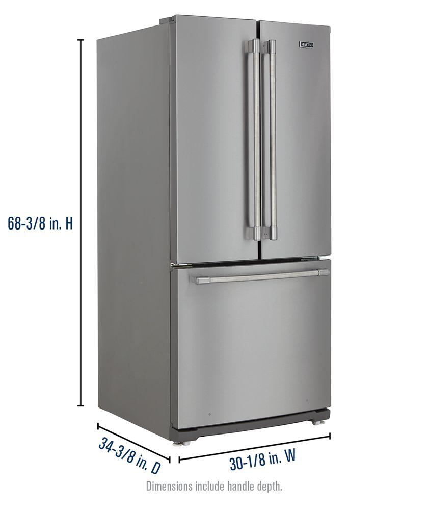Mff2055frzmaytag 30 Inch Wide French Door Refrigerator 20 Cu Ft