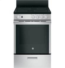 """GE® 24"""" Free-Standing/Slide-in Front Control Range with Steam Clean and Large Window"""