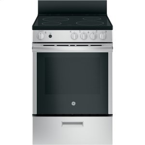 "GEGE(R) 24"" Free-Standing/Slide-in Front Control Range with Steam Clean and Large Window"