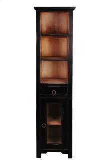 CC-CAB1924TLD-ABSV  Cottage Tall Narrow Cabinet  Antique Black