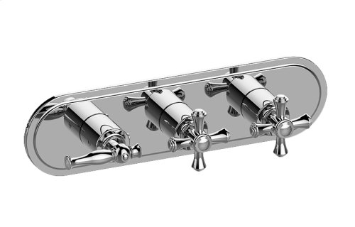 Lauren M-Series Valve Horizontal Trim with Three Handles