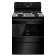 30-inch Electric Range with Bake Assist Temps - black