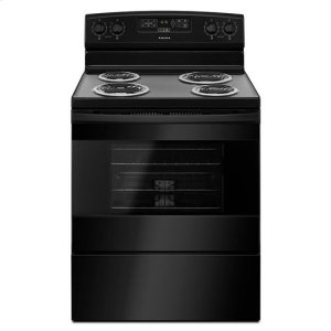 30-inch Electric Range with Bake Assist Temps - black - BLACK
