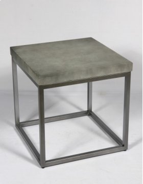 End Table-concrete Top Finish-silver Base-rta