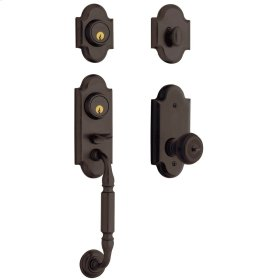 Venetian Bronze Ashton Two-Point Lock Handleset