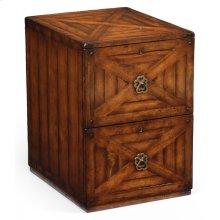 Walnut two drawer filing cabinet