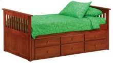 Spice Cherry Ginger Captain's Trundle Bed