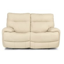 Evian Leather Power Reclining Loveseat with Power Headrests