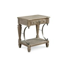Arch Salvage Gabriel Bedside Table - Parchment