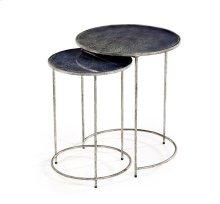 Maci Round Nesting Tables - Cobalt
