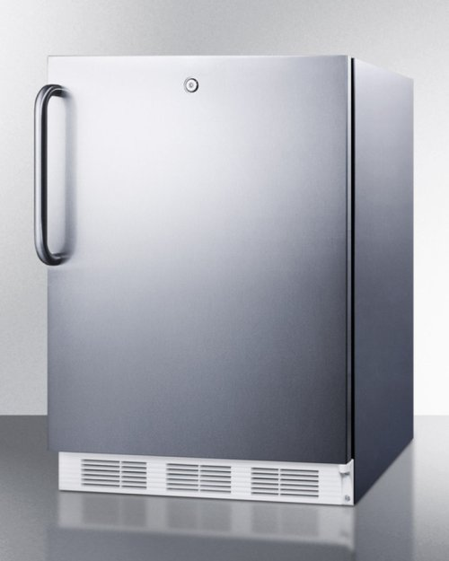 Built-in Undercounter All-refrigerator for General Purpose Use, Auto Defrost W/complete Stainless Steel Wrapped Exterior and Front Lock